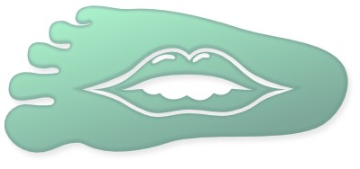 Mouth in Foot Logo
