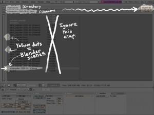 Opening the Blender scene.